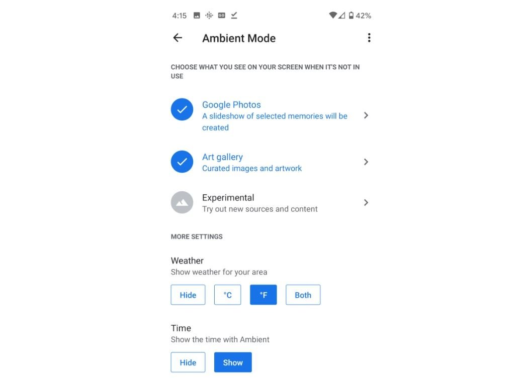 android tv ambient mode google fotos