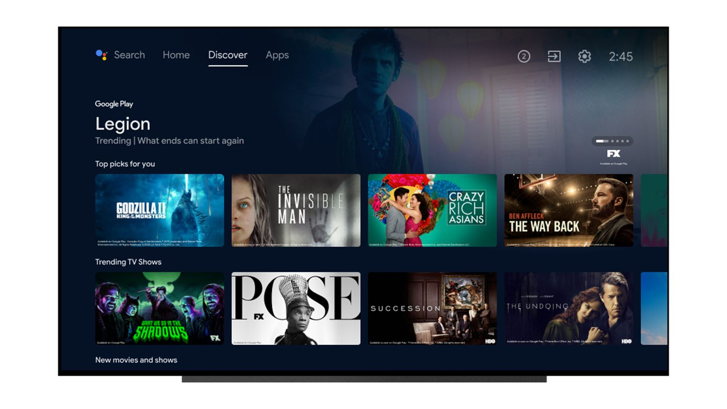 android tv new design 2
