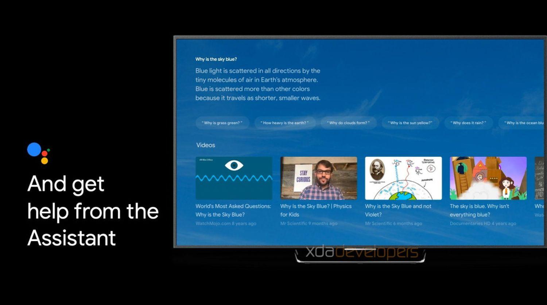android tv new design sabrina google assistant