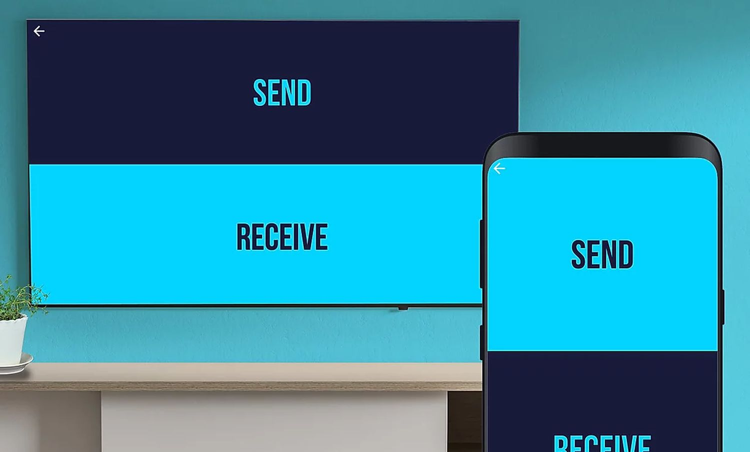 android tv send files to tv send receive