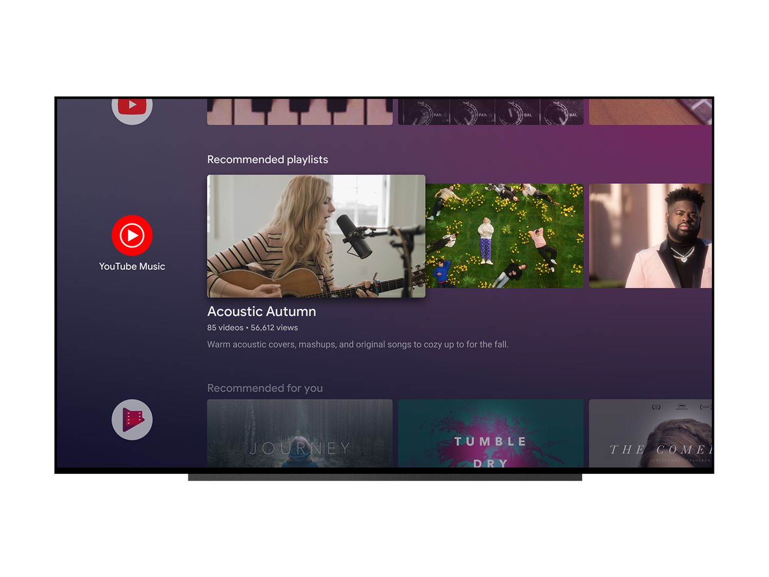 android tv youtube music screenshots 2