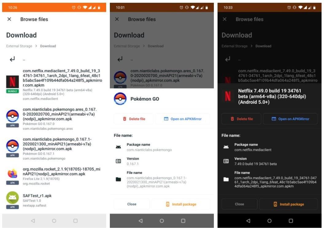 apkmirror installer screenshots