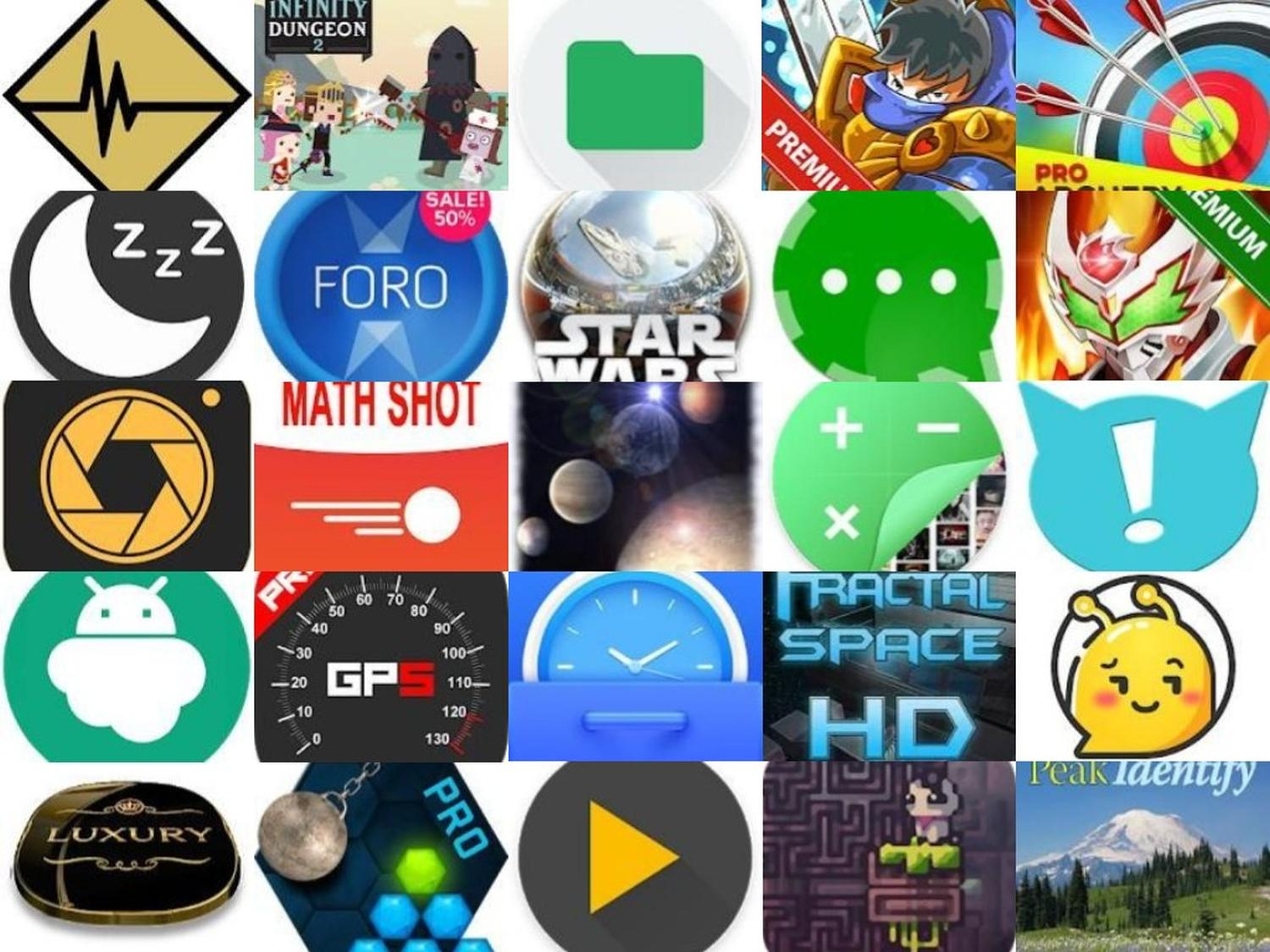 Google Play Store Action: These 25 Android Apps, Games, Icon