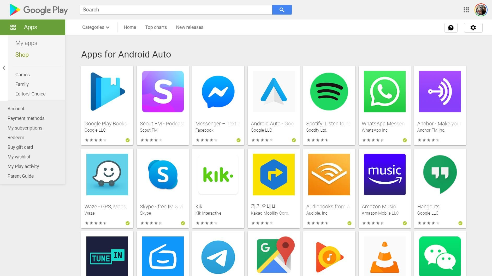 apps fuer android auto