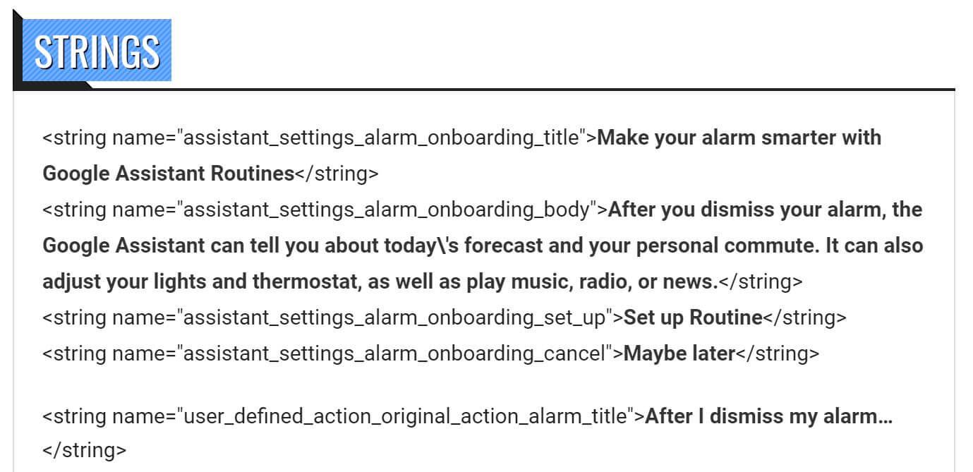 assistant alarm