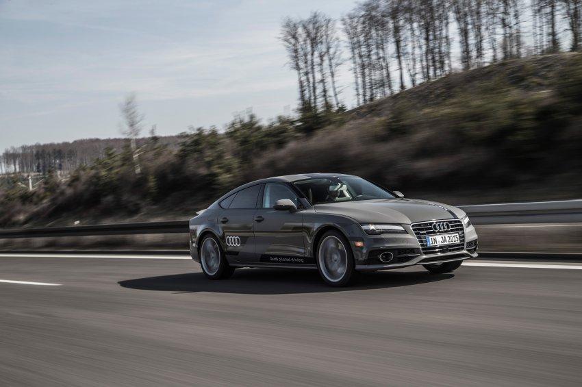 AUDI AG, Audi A7 Concept, Piloted Driving, auf der Autobahn A9 zw Ingolstadt und Greding