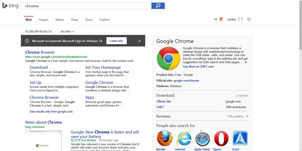 bing chrome edge werbung