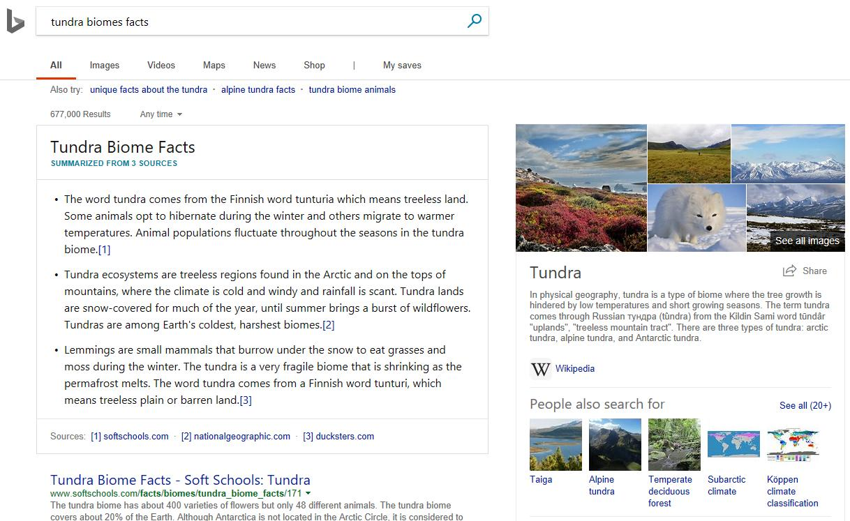 bing intelligent search