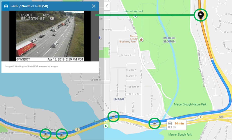 bing maps traffic cam
