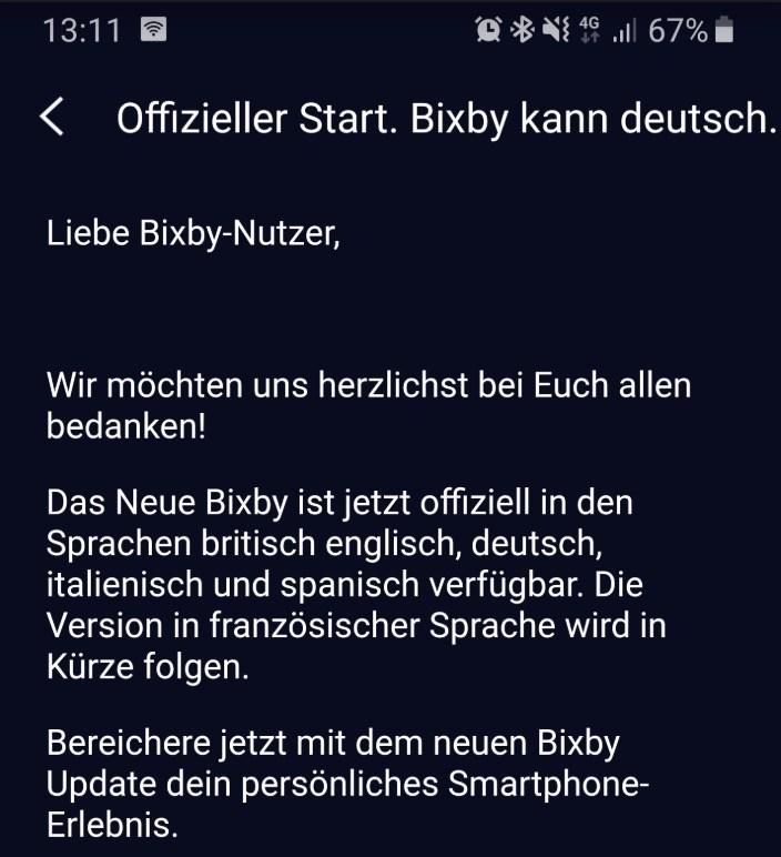 bixby meldung