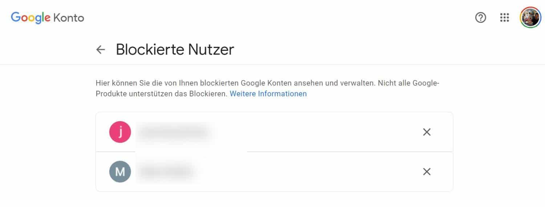 blockierte nutzer