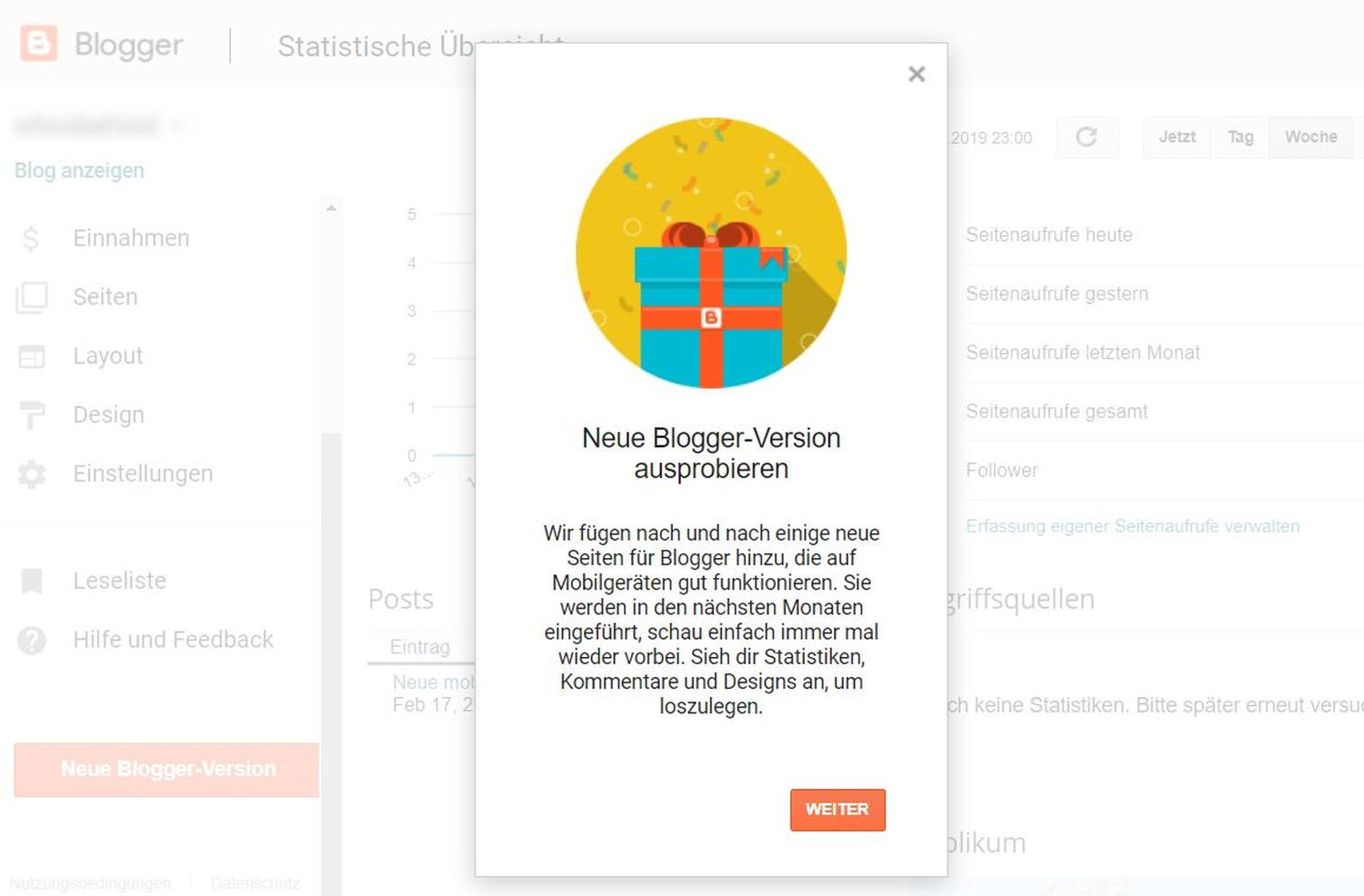 blogger new design