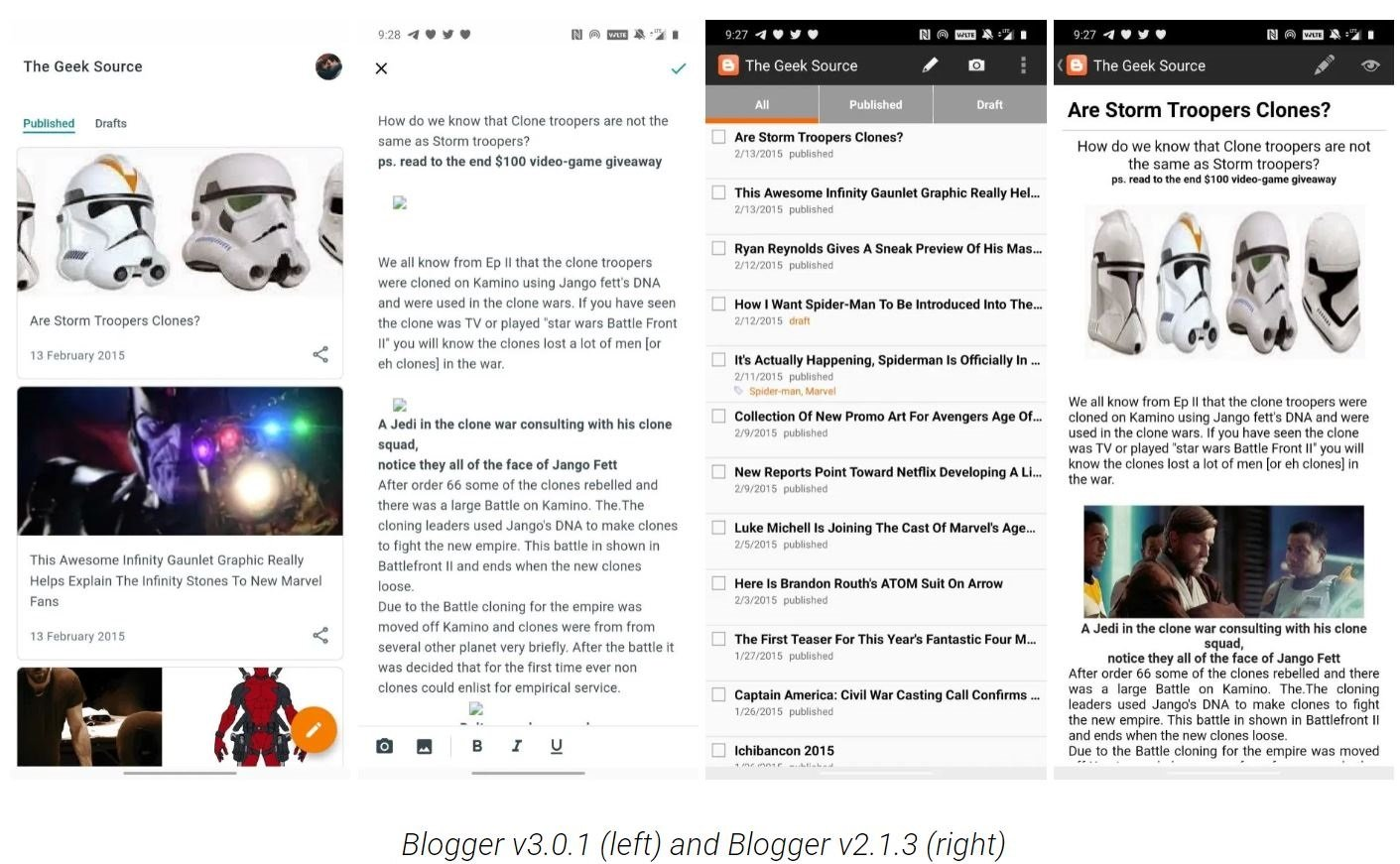 blogger screenshots