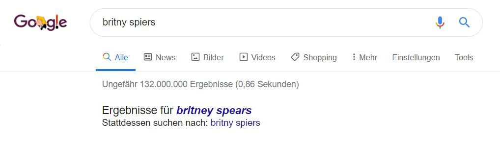 britney spears google wrong