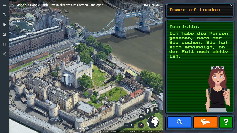 carmen sandiego game google earth