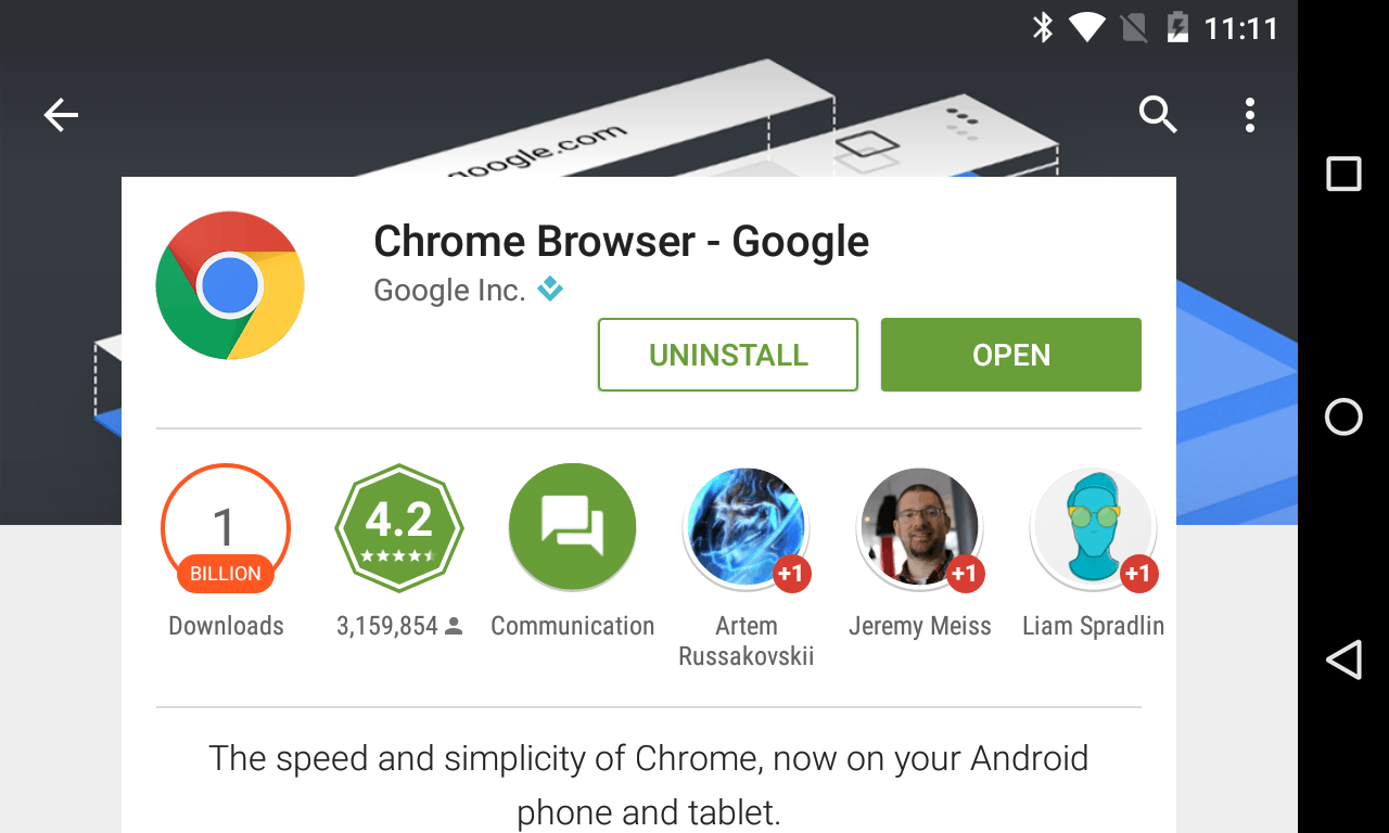 chrome 1 billion