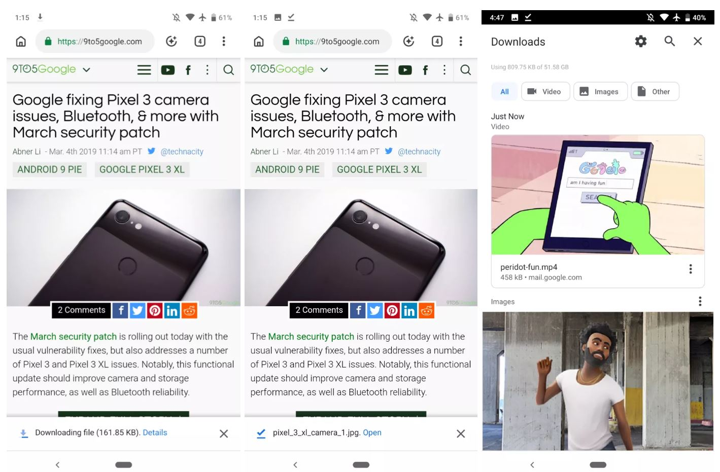 chrome android download manager