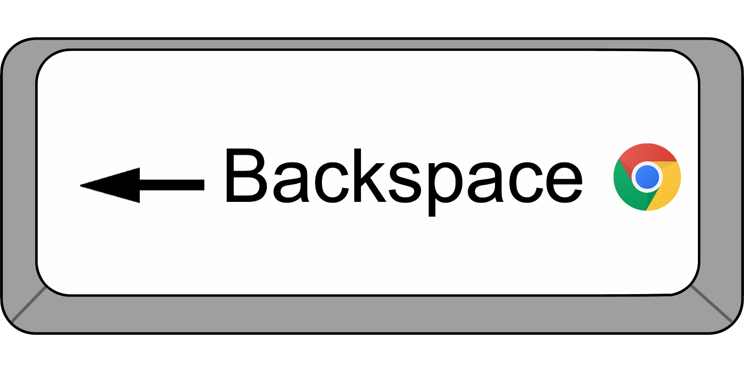 chrome backspace