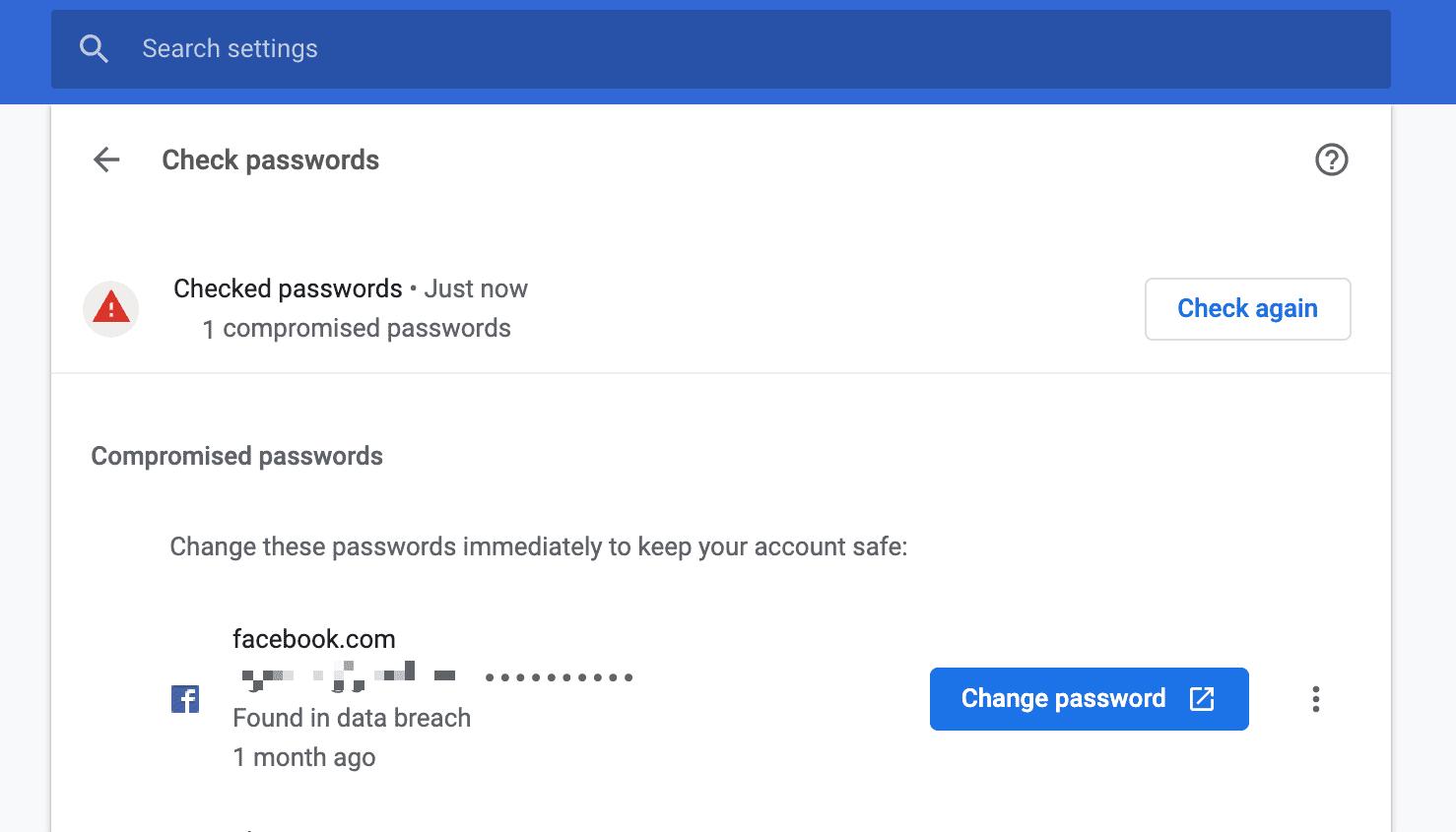 chrome chance password