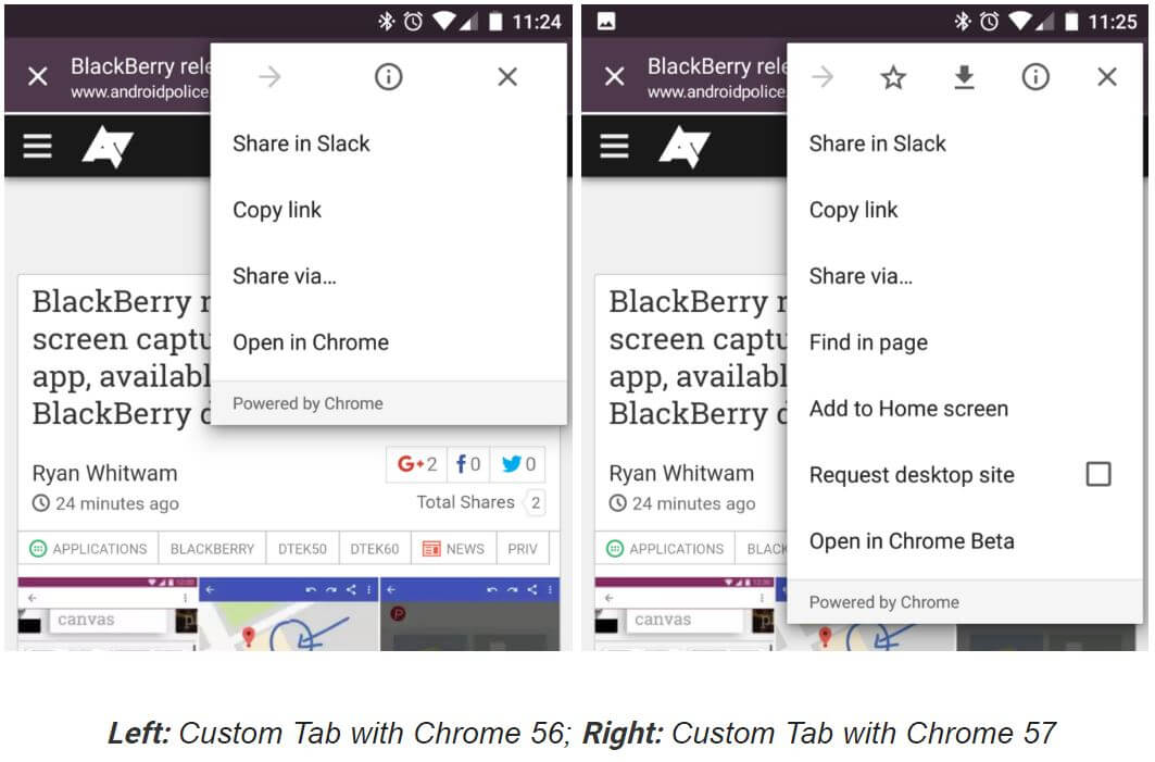 chrome custom tabs beta