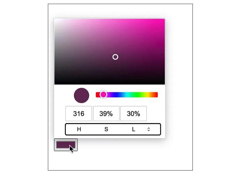 chrome design input color