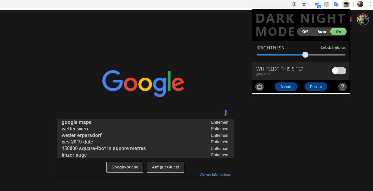 chrome extension dark night mode