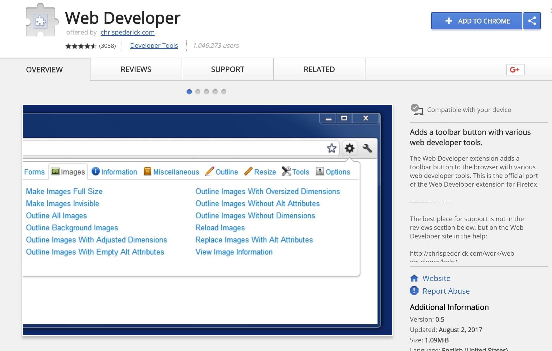 chrome extension web developer