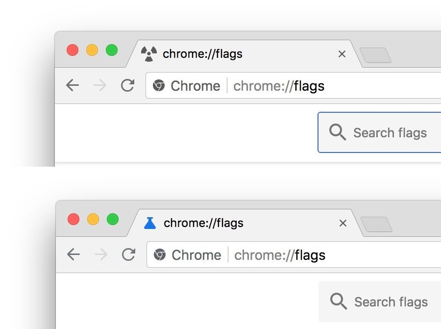 chrome flags new icon