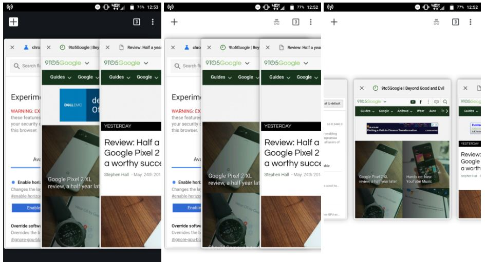 chrome for android tab switcher
