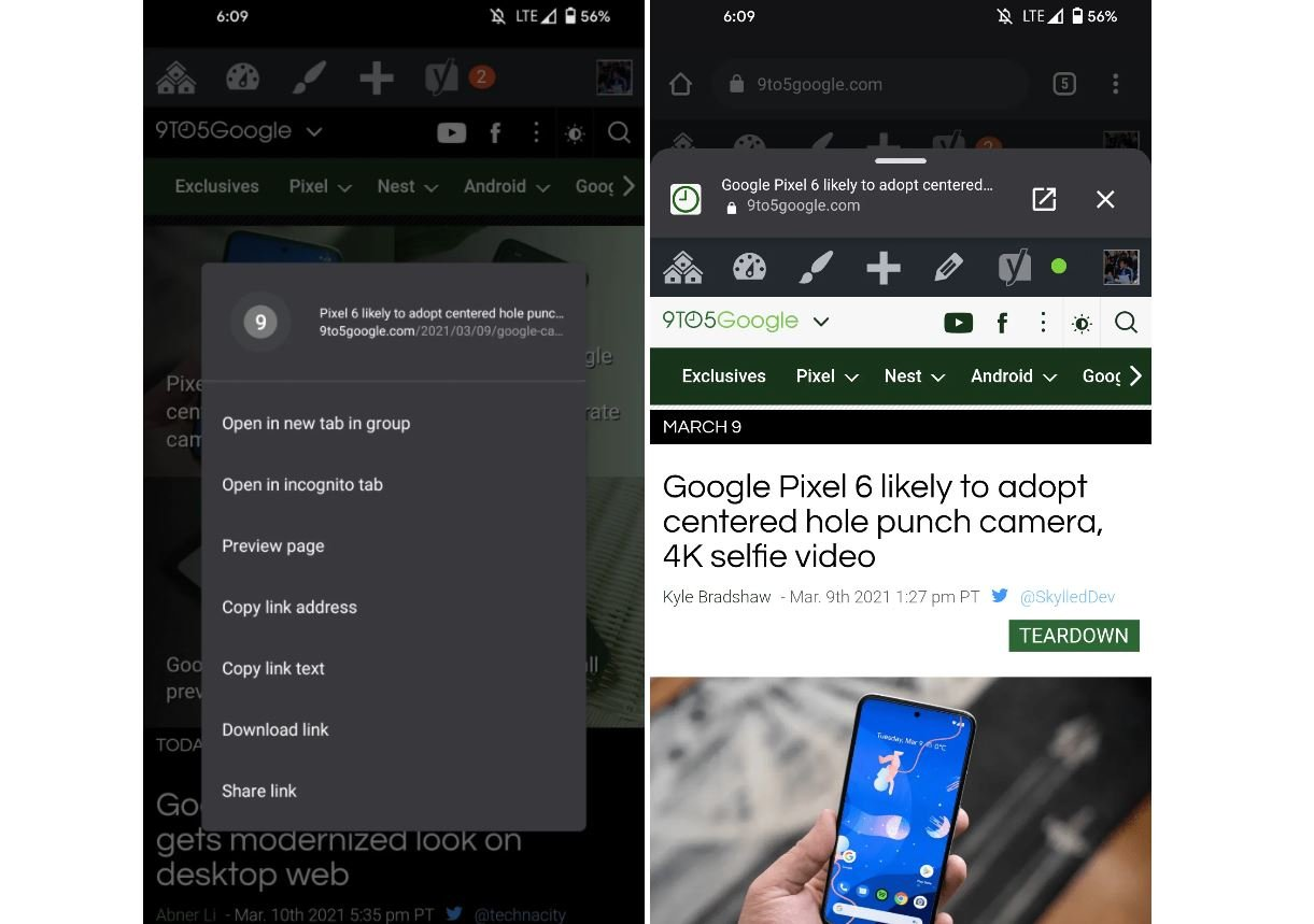 chrome for android tabs