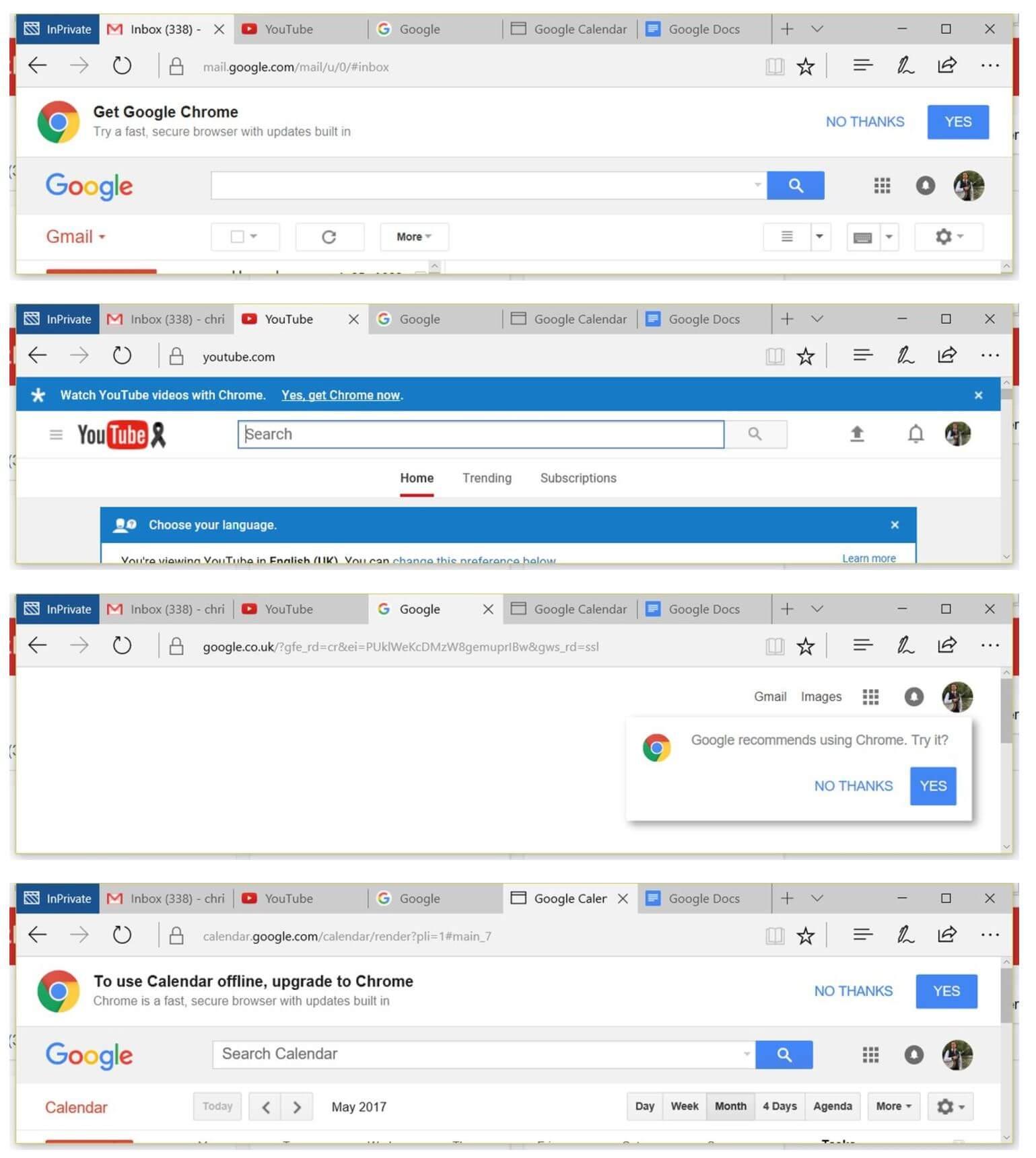 chrome google werbung