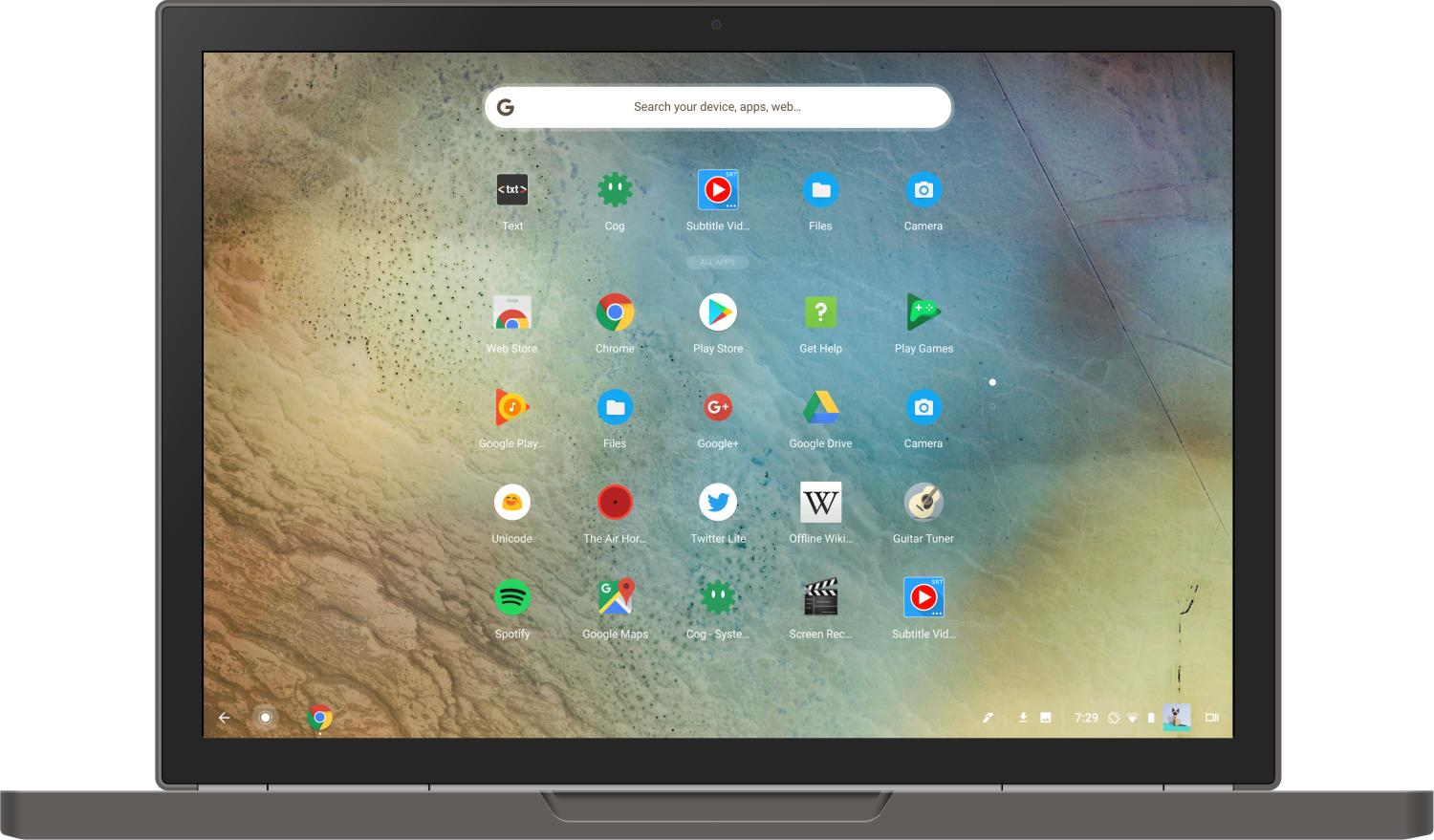 chrome os app drawer neu