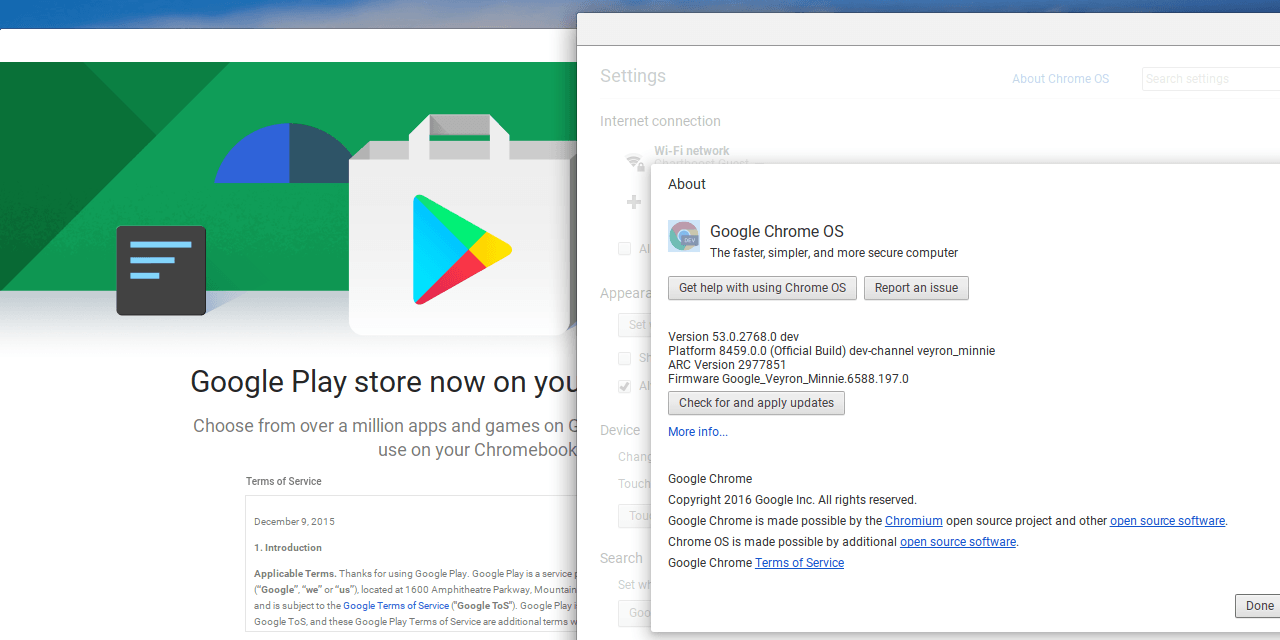 chrome os google play