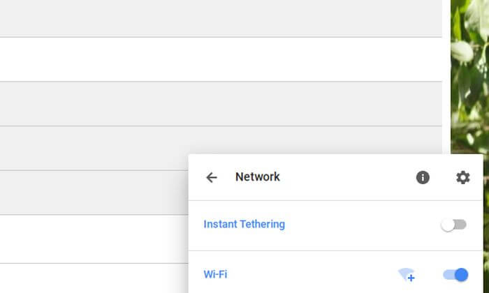 chrome os instant tethering