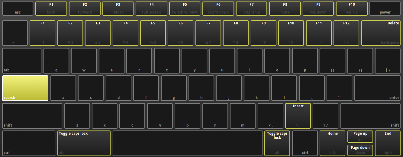 chrome os keyboard search