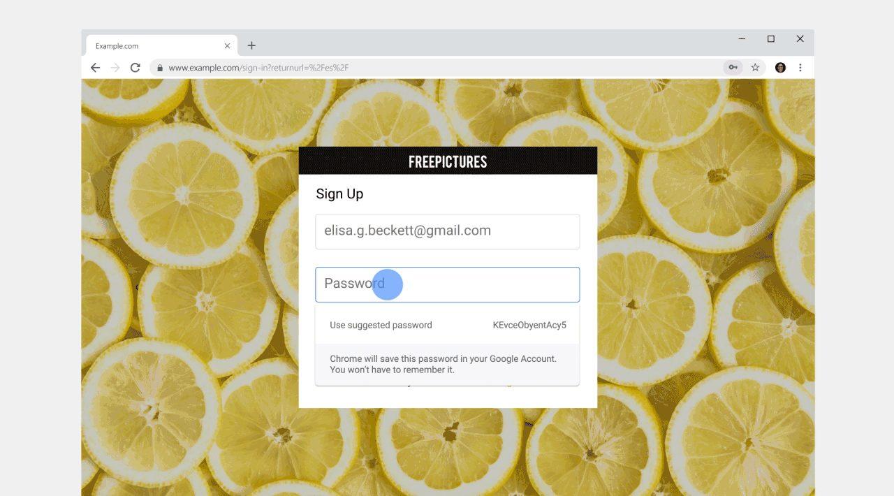 chrome passwort erstellen