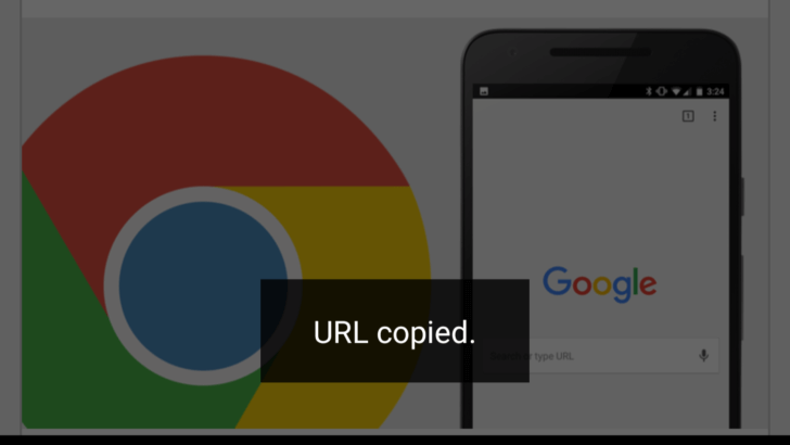 chrome url copy