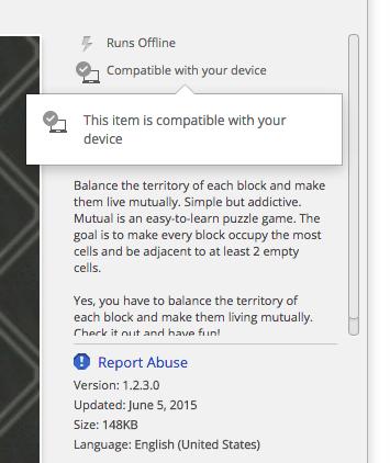 chrome web store compatibility