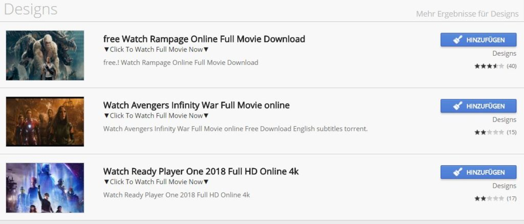 chrome web store movies