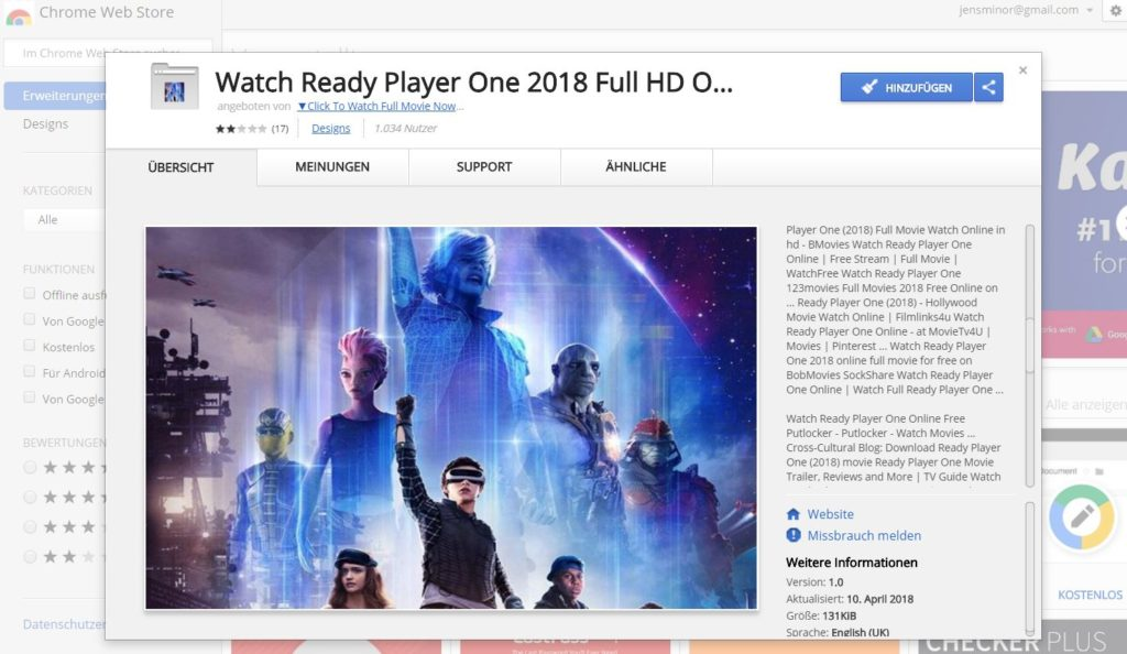 chrome web store ready player one