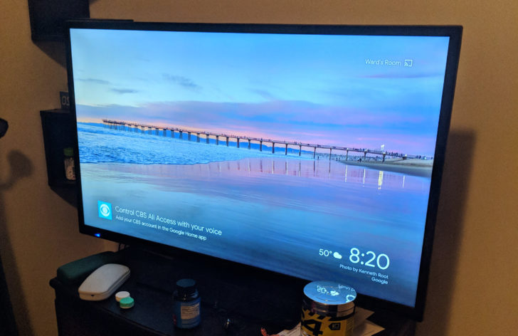 chromecast backdrop werbung