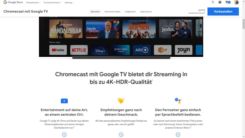 chromecast google tv google store