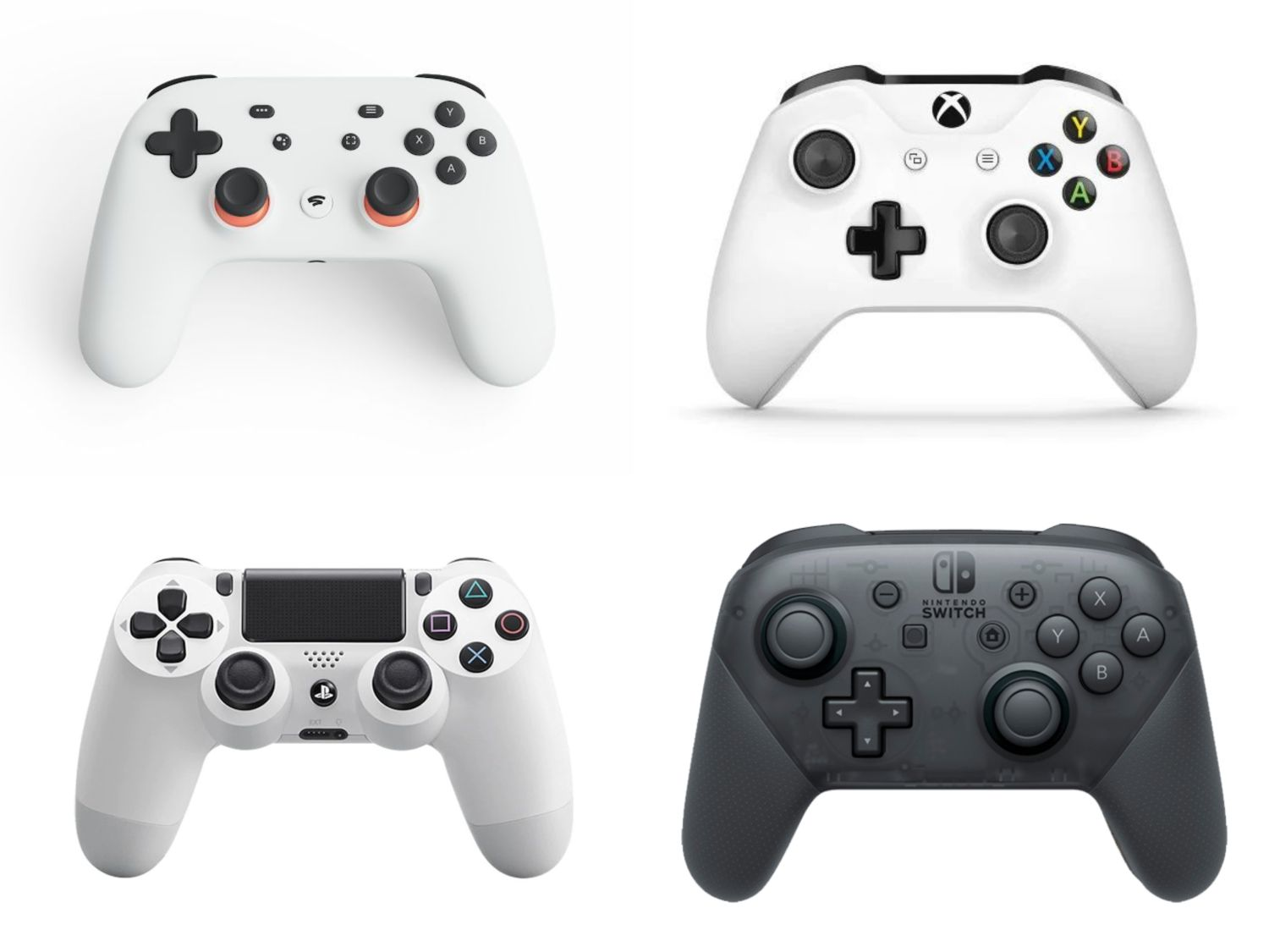 controller stadia xbox playstation nintendo