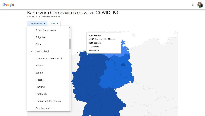 coronavirus covid-19 krisenkarte deutschland
