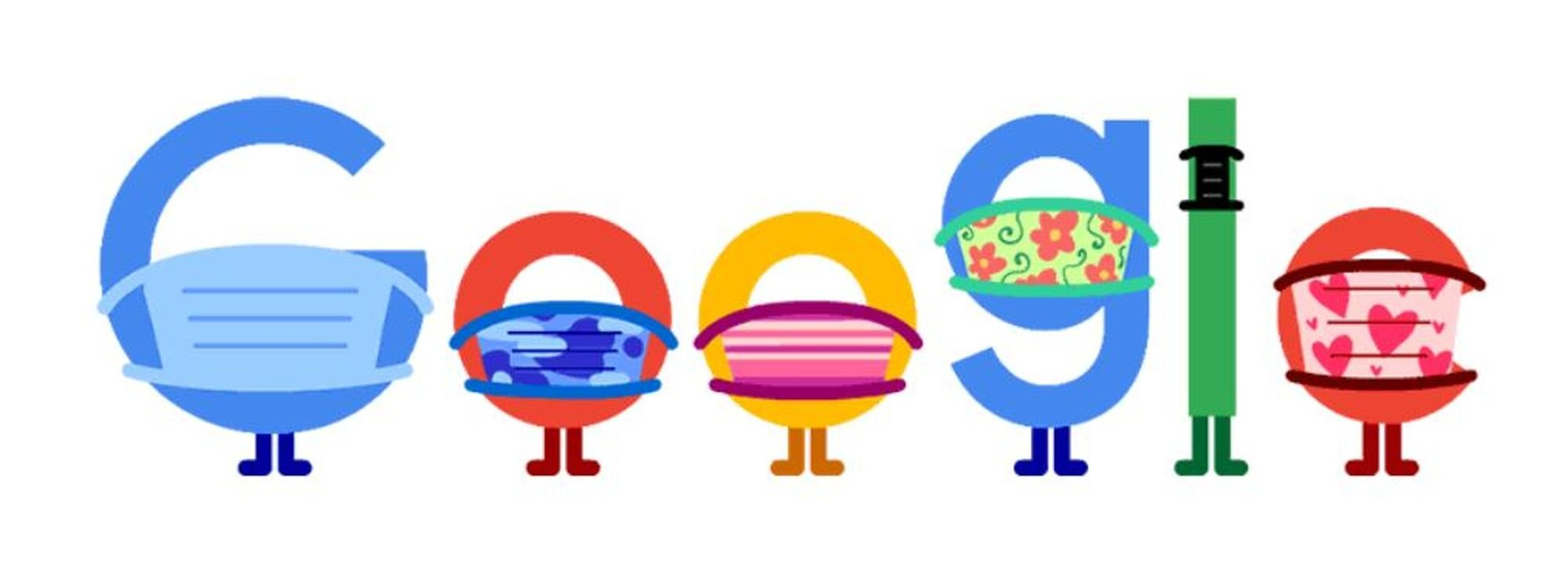 coronavirus tipps trage eine maske doodle