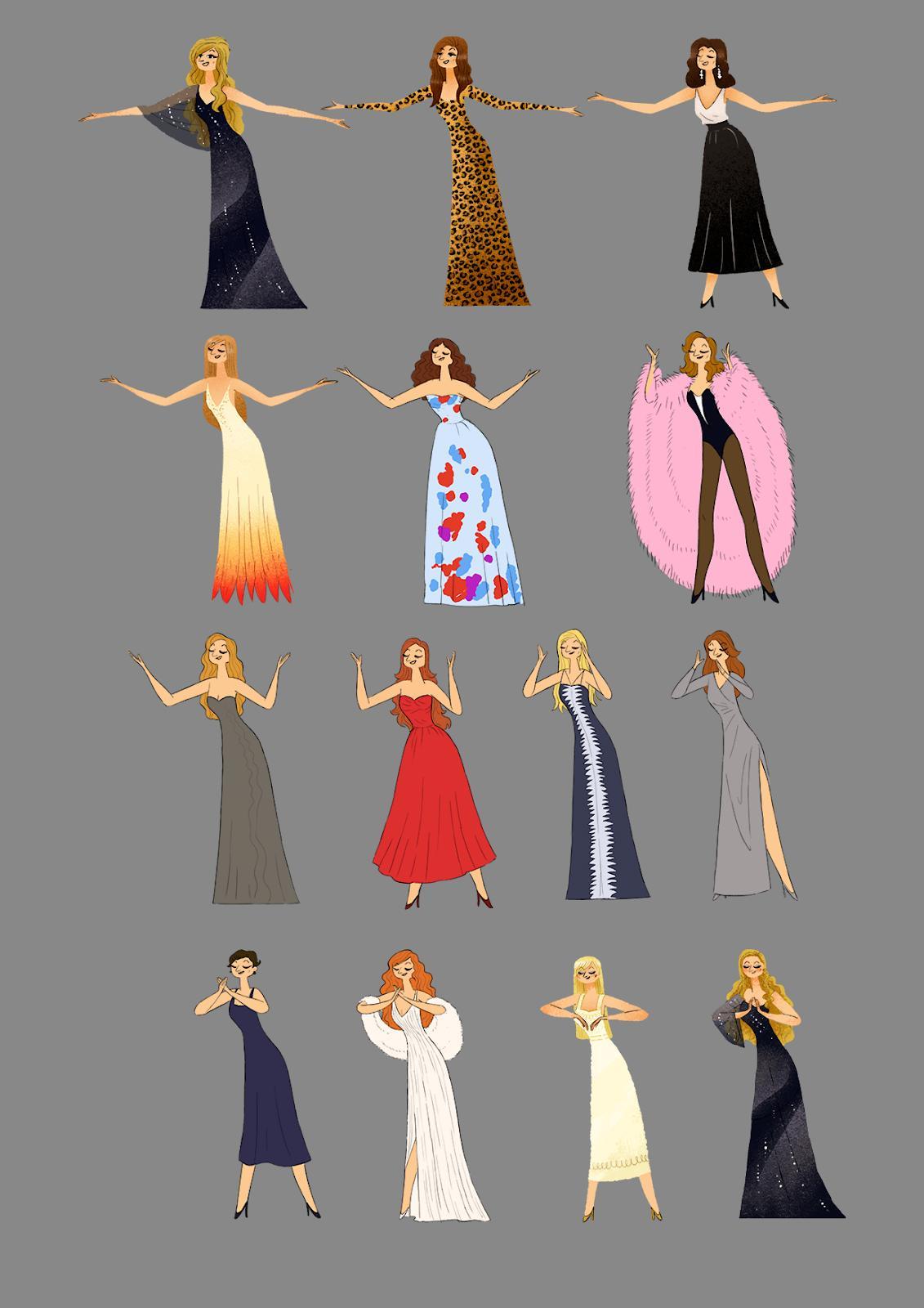dalida doodle outfits