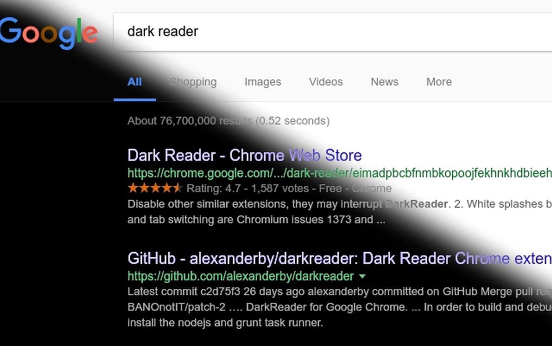 dark reader dark