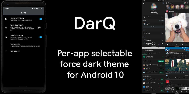 darq dark mode android 10