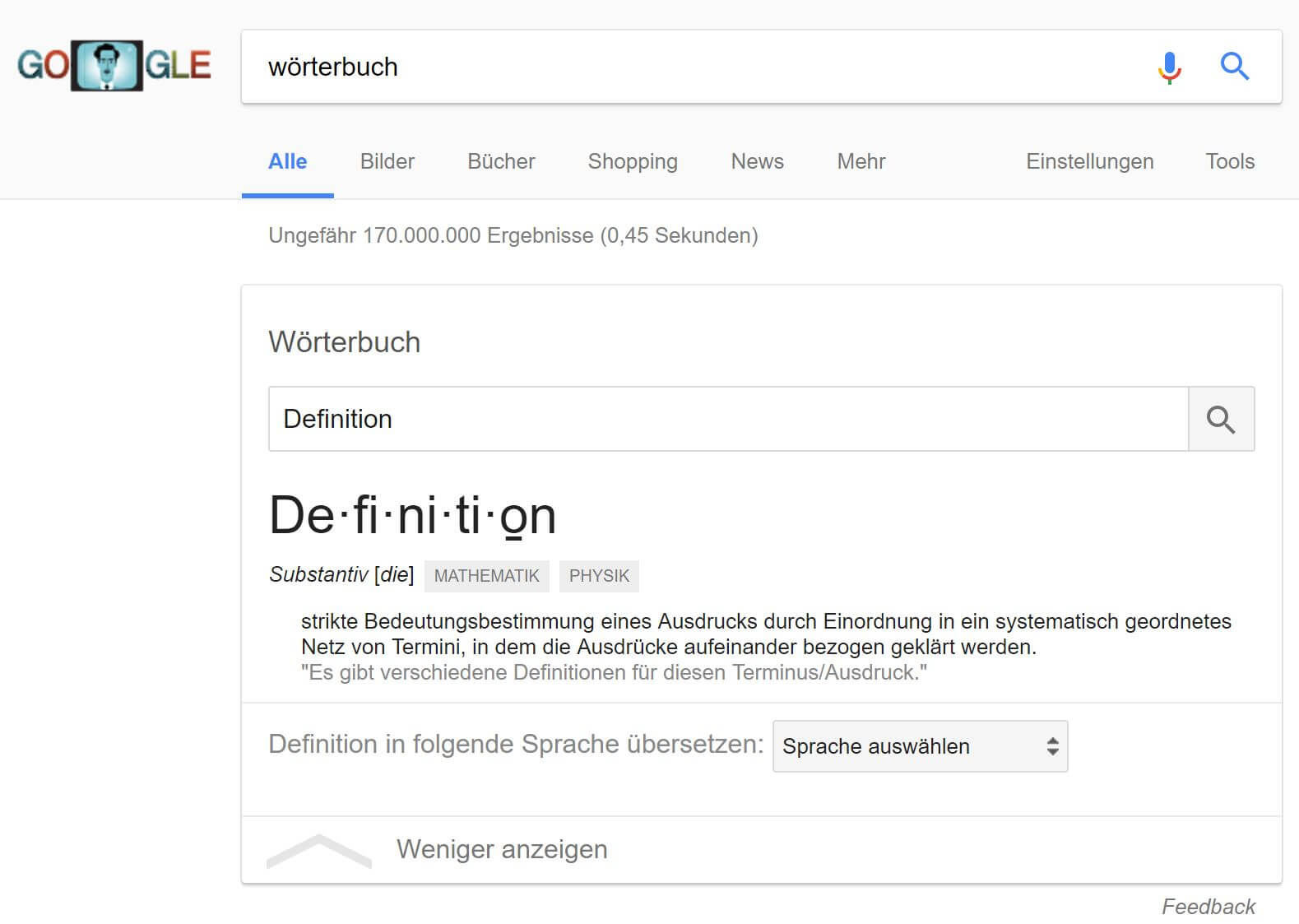definition deutsch