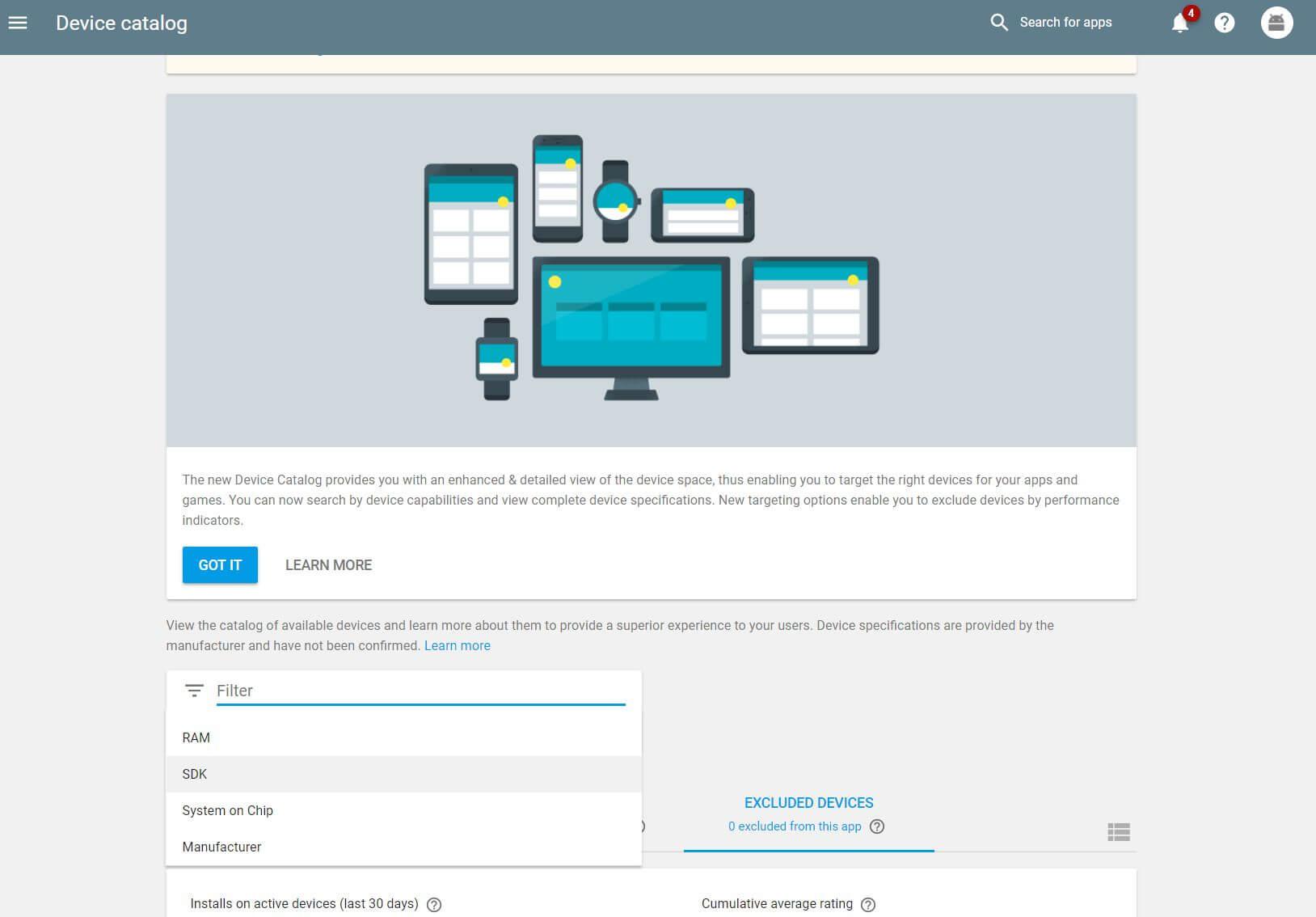 device catalog